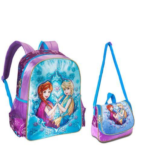 mochila com lancheira princesas para meninas 490x490 Mochila infantil com Lancheira (Para meninos e Meninas)