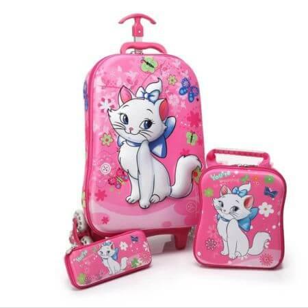 mochila escolar com rodinhas de menina 2 450x450 Mochila infantil com Lancheira (Para meninos e Meninas)