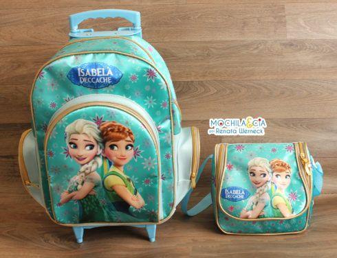 mochila frozen com lancheira 490x376 Mochila infantil com Lancheira (Para meninos e Meninas)