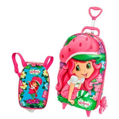 mochila moranguinho 490x490 Mochila infantil com Lancheira (Para meninos e Meninas)