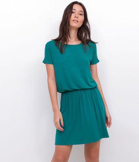 vestido de malha curto e soltinho 490x568 VESTIDOS DE MALHA modelos para usar no verão (Curtos e Longos)