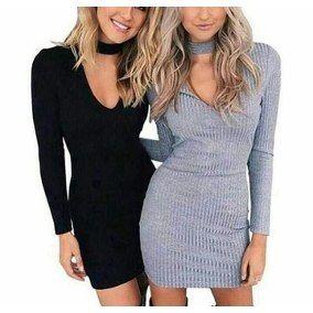 vestidos de malha canelada 2 VESTIDOS DE MALHA modelos para usar no verão (Curtos e Longos)