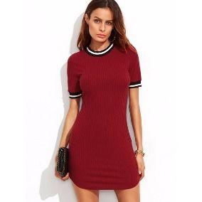 vestidos de malha canelada para balada VESTIDOS DE MALHA modelos para usar no verão (Curtos e Longos)
