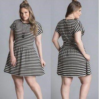 vestidos de malha curtos listradinhos VESTIDOS DE MALHA modelos para usar no verão (Curtos e Longos)