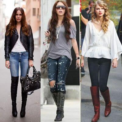 bota cano longo com calca 1 Botas Cano Alto (Longo) Como usar com vestido, calça, saia