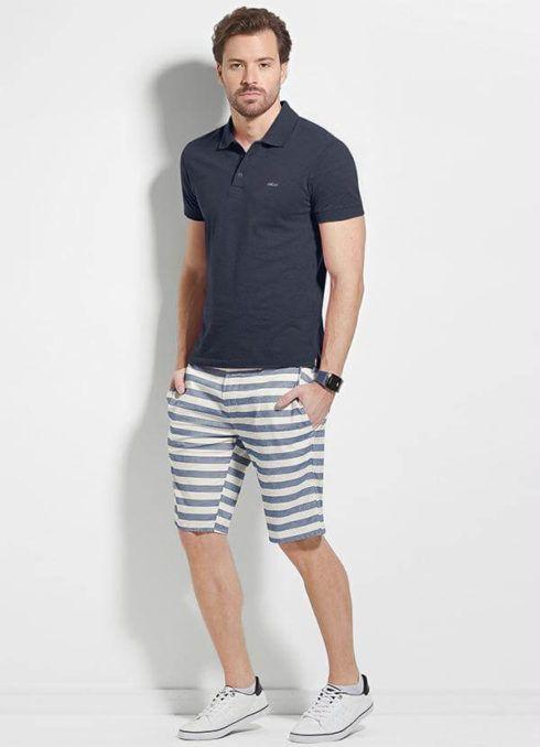 camiseta polo com bermuda 1 490x678 Camiseta Polo Masculina (Estilos com calça, e bermuda)