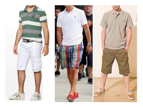 camiseta polo com bermuda 2 490x368 Camiseta Polo Masculina (Estilos com calça, e bermuda)