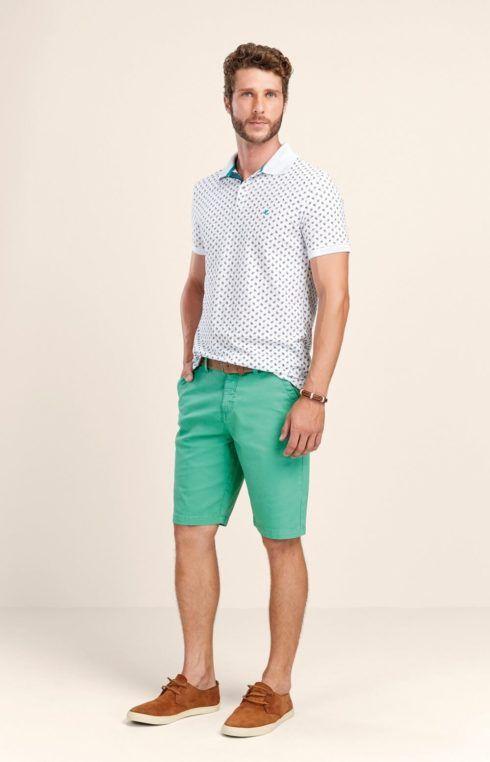 camiseta polo com bermuda 3 490x762 Camiseta Polo Masculina (Estilos com calça, e bermuda)