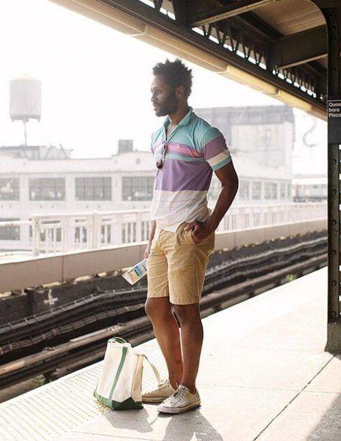 camiseta polo com bermuda 4 490x634 Camiseta Polo Masculina (Estilos com calça, e bermuda)