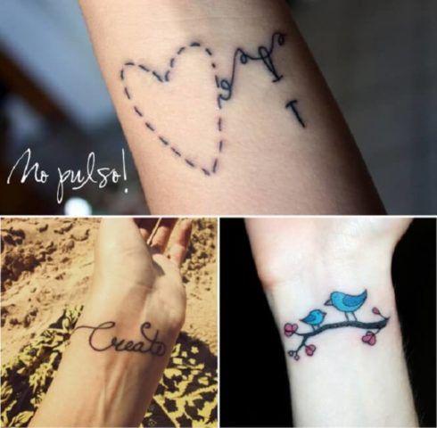tatuagem delicada no pulso 3 490x480 Tatuagens Delicadas (desenhos e áreas do corpo a tatuar)