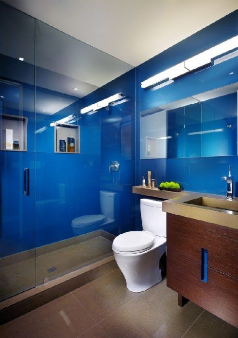 banheiros decorados com azul 1 490x694 Ambientes decorados com Azul (Sala, Cozinha, banheiro, Quarto)