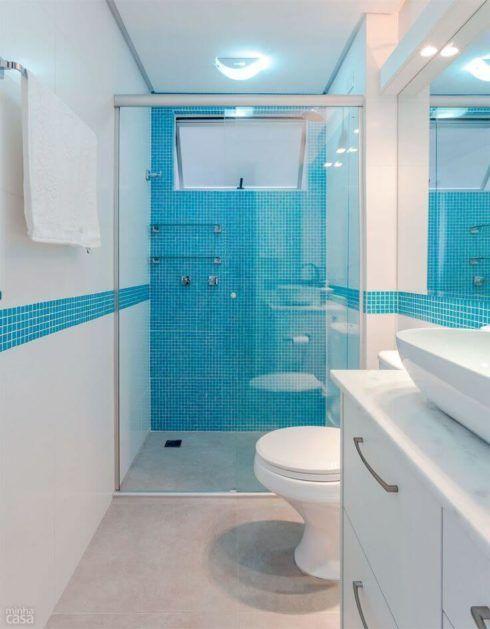 banheiros decorados com azul 2 490x629 Ambientes decorados com Azul (Sala, Cozinha, banheiro, Quarto)