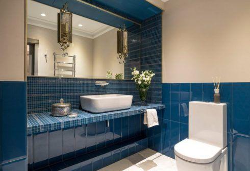 banheiros decorados com azul 4 490x335 Ambientes decorados com Azul (Sala, Cozinha, banheiro, Quarto)