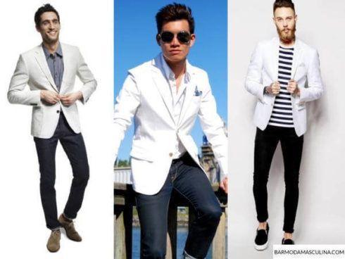 blazer branco look masculino 490x368 TERNO sem Gravata Como usar com Estilo e Charme