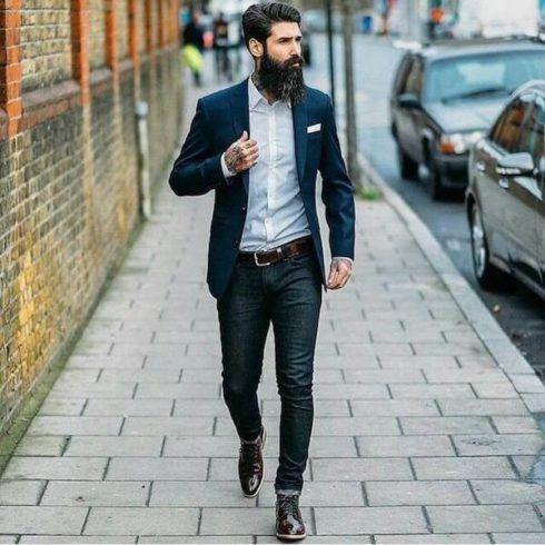blazer com calca jeans 2 490x490 TERNO sem Gravata Como usar com Estilo e Charme