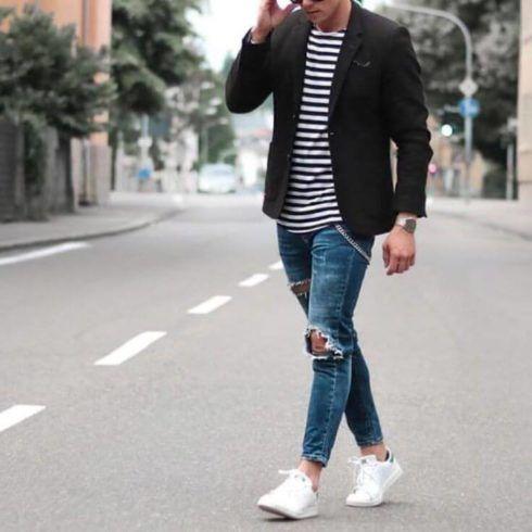 blazer com calca jeans 3 490x490 TERNO sem Gravata Como usar com Estilo e Charme