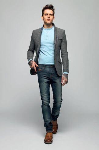 blazer com calca jeans 6 TERNO sem Gravata Como usar com Estilo e Charme