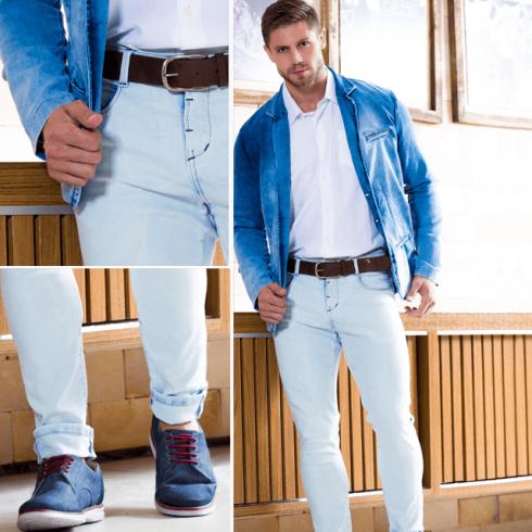 blazer jeans com camisa branca 490x490 TERNO sem Gravata Como usar com Estilo e Charme