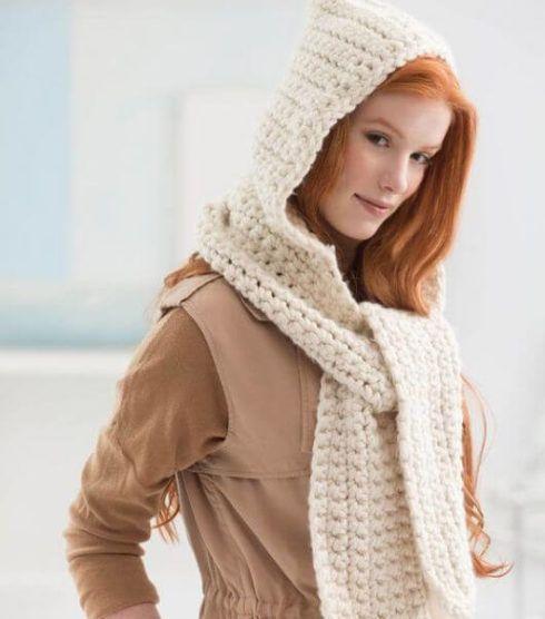 cachecol com touca 490x556 CACHECOL para Inverno ( Combinações da Moda ) Confira