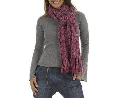 cachecol de la feminino 1 CACHECOL para Inverno ( Combinações da Moda ) Confira