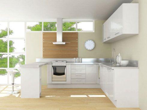 cozinha branca para apartamento 490x368 Cozinha Planejada MODERNA configurações maravilhosas