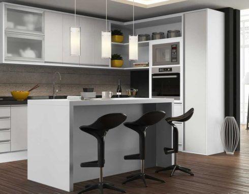 cozinha planejada branca 4 490x383 Cozinha Planejada MODERNA configurações maravilhosas