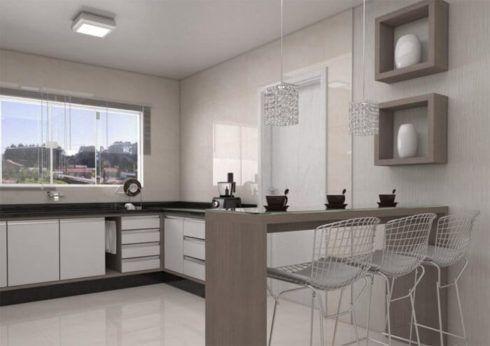 cozinha planejada com bancada 4 490x346 Cozinha Planejada MODERNA configurações maravilhosas