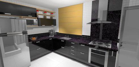 cozinha planejada em l com cooktop 490x238 Cozinha Planejada MODERNA configurações maravilhosas