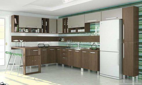 cozinha planejada em l modulada 490x294 Cozinha Planejada MODERNA configurações maravilhosas