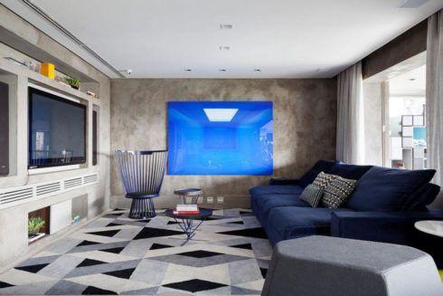 imagem 6 2 490x327 Ambientes decorados com Azul (Sala, Cozinha, banheiro, Quarto)