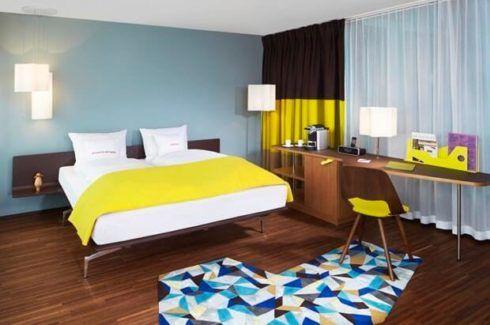 quartos decorados com azul 1 490x325 Ambientes decorados com Azul (Sala, Cozinha, banheiro, Quarto)