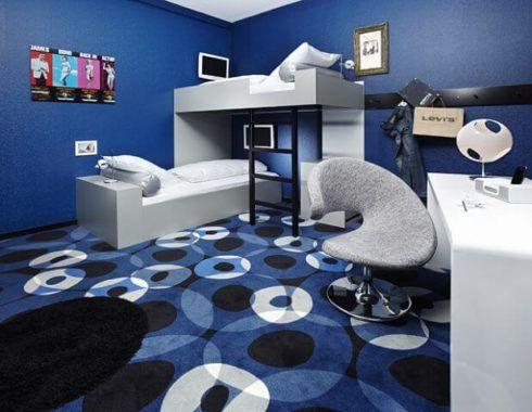 ambientes decorados com azul sala cozinha banheiro. Black Bedroom Furniture Sets. Home Design Ideas