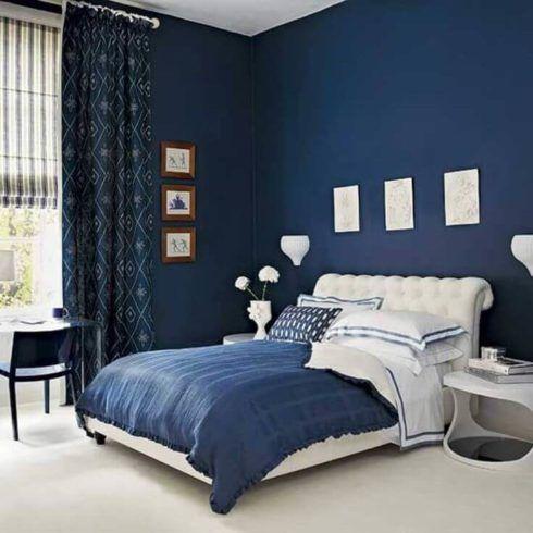 quartos decorados com azul 5 490x490 Ambientes decorados com Azul (Sala, Cozinha, banheiro, Quarto)