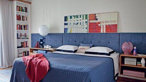 quartos decorados com azul 6 490x276 Ambientes decorados com Azul (Sala, Cozinha, banheiro, Quarto)