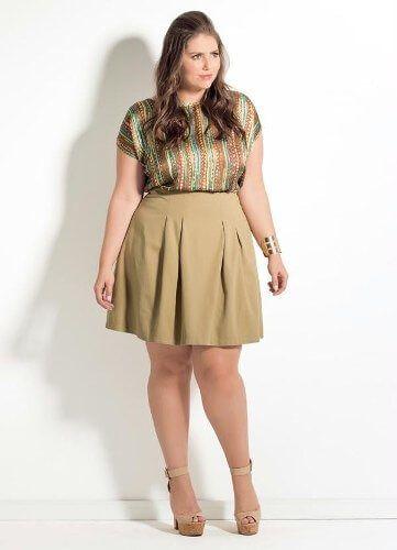 saia de cintura alta plus size Especial saias PLUS SIZE modelitos que encantam
