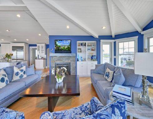 sala de estar decorada azul 2 490x382 Ambientes decorados com Azul (Sala, Cozinha, banheiro, Quarto)