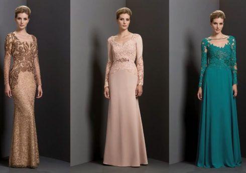 vestido com manga longa para m%C3%A3e do noivo 490x345 VESTIDOS para Mãe da noiva e do noivo para casamento