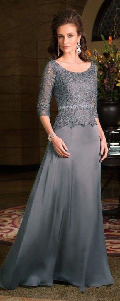 vestido de festa para senhoras de 50 anos 2 409x1024 VESTIDOS para Mãe da noiva e do noivo para casamento