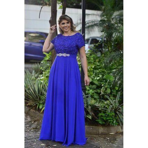 vestido longo para m%C3%A3e do noivo azul 490x490 VESTIDOS para Mãe da noiva e do noivo para casamento