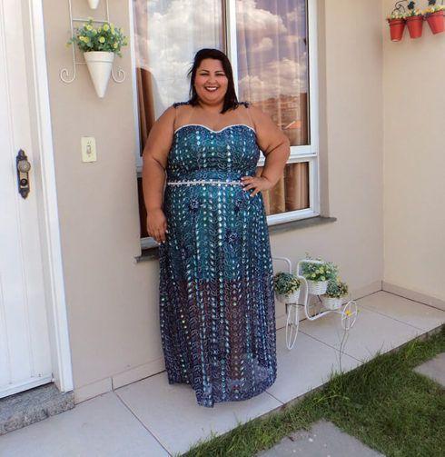 vestido plus size para casamento longo tomara que caia 490x503 Vestidos PLUS SIZE para Festas e Baladas e dia a dia