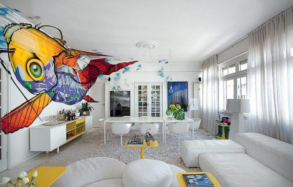 Parede Grafitada na Decoração de diversos ambientes