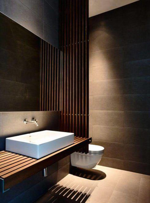 lavabo moderno com cuba 490x662 Lavabo Moderno, Simples, Pequeno, Como Decorar