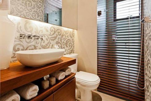 lavabo moderno fotos 490x327 Lavabo Moderno, Simples, Pequeno, Como Decorar