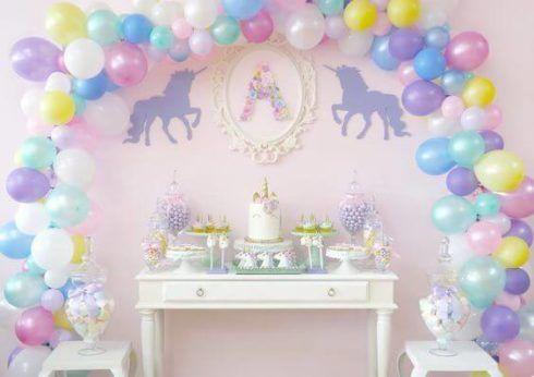 decora%C3%A7%C3%A3o cha de bebe unicornio 3 490x346 Decoração de Chá de Bebê Unicórnio Dicas interessantes