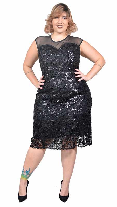 vestido plus size curto para festa paete Vestido Plus size Curto, Modelos e Looks perfeitos