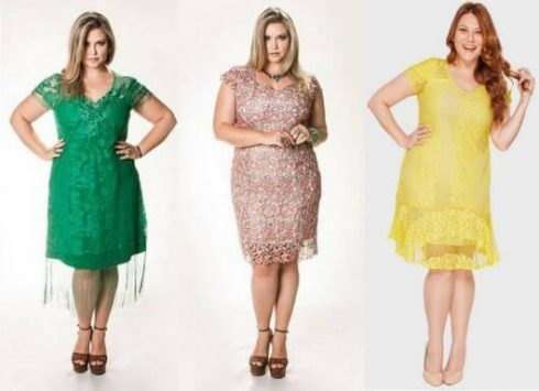 vestido plus size curto para formatura 1 490x355 Vestido Plus size Curto, Modelos e Looks perfeitos