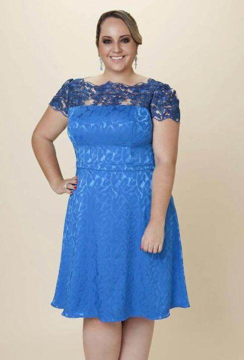 vestido plus size curto para formatura 3 490x723 Vestido Plus size Curto, Modelos e Looks perfeitos