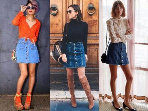 imagem 35 490x367 Jeitos de usar Saia Jeans Curta Perfeita para o Verão