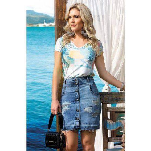 imagem 36 490x490 Jeitos de usar Saia Jeans Curta Perfeita para o Verão