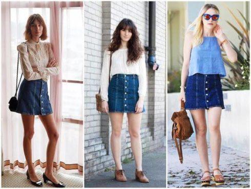 imagem 39 490x369 Jeitos de usar Saia Jeans Curta Perfeita para o Verão